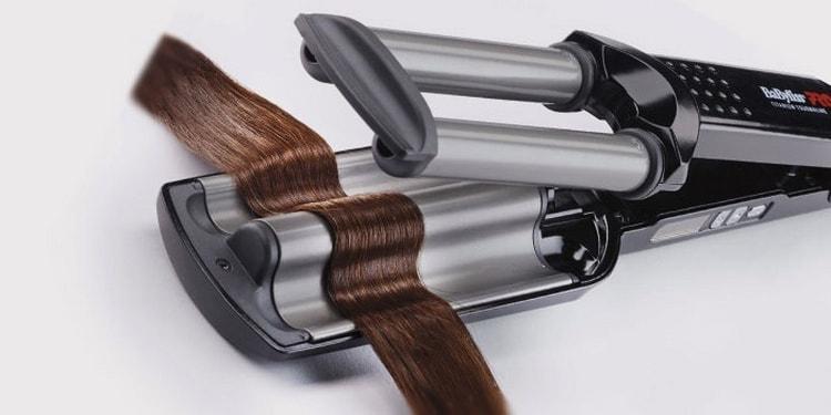 Плойка тройная волна для волос помогает создать просто очаровательные прически.