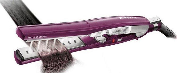 есть также паровые профессиональные выпрямители для волос.