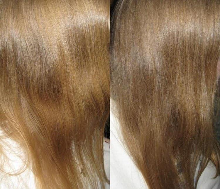 Волосы после таких процедур выглядят блестящими.