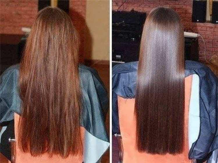 если проводить процедуры регулярно, волосы станут такими, как после салонных процедур.