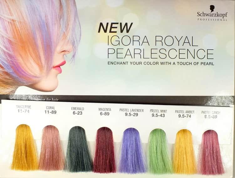 Как выбрать краску по палитре Igora Pearlescence