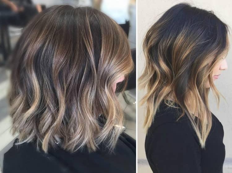 Посмотрите фото окрашивания балаяж на русые волосы.