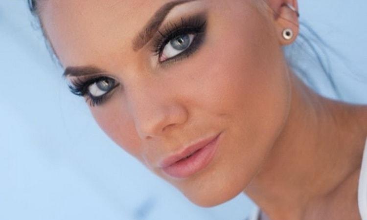 вечерний макияж для серых глаз пошагово фото