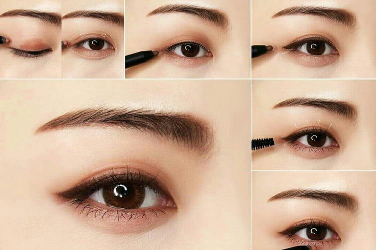 корейский макияж глаз поэтапно
