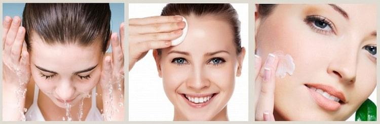 Перед нанесением косметики необходимо очистить кожу лица.