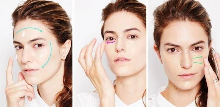 Легкий макияж для брюнеток желательно начинать с нанесения тональной основы.
