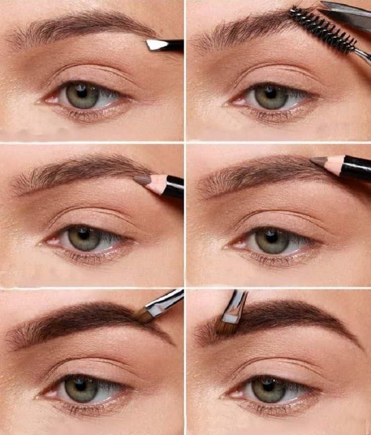 делая красивый макияж для брюнеток, важно учесть и то, как будут выглядеть брови.