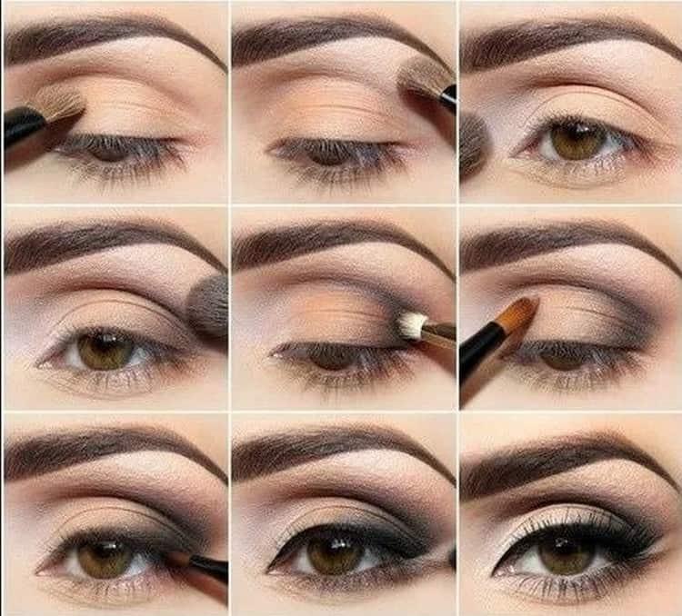 Для смуглых брюнеток можно делать выразительный макияж.