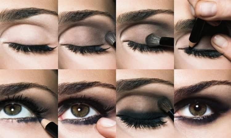 Посмотрите, как сделать макияж смоки айс поэтапно.