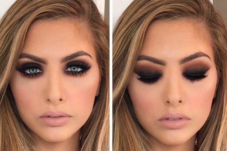 Посмотрим фото макияжа в стиле смоки айс.