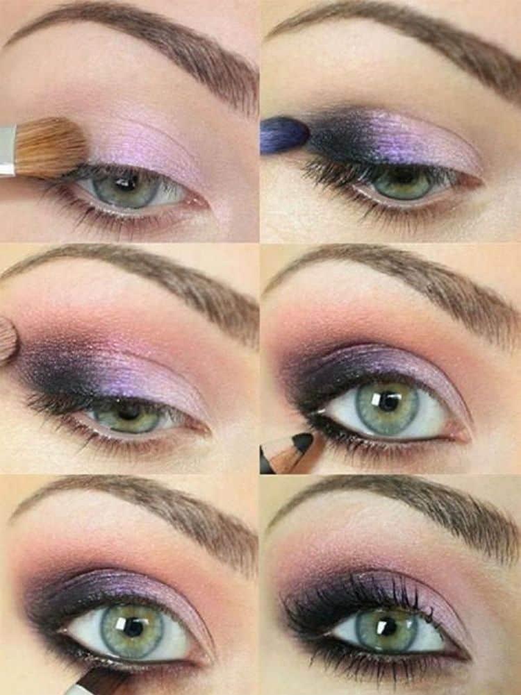 А вот вариант макияжа смоки айс для зеленых глаз.