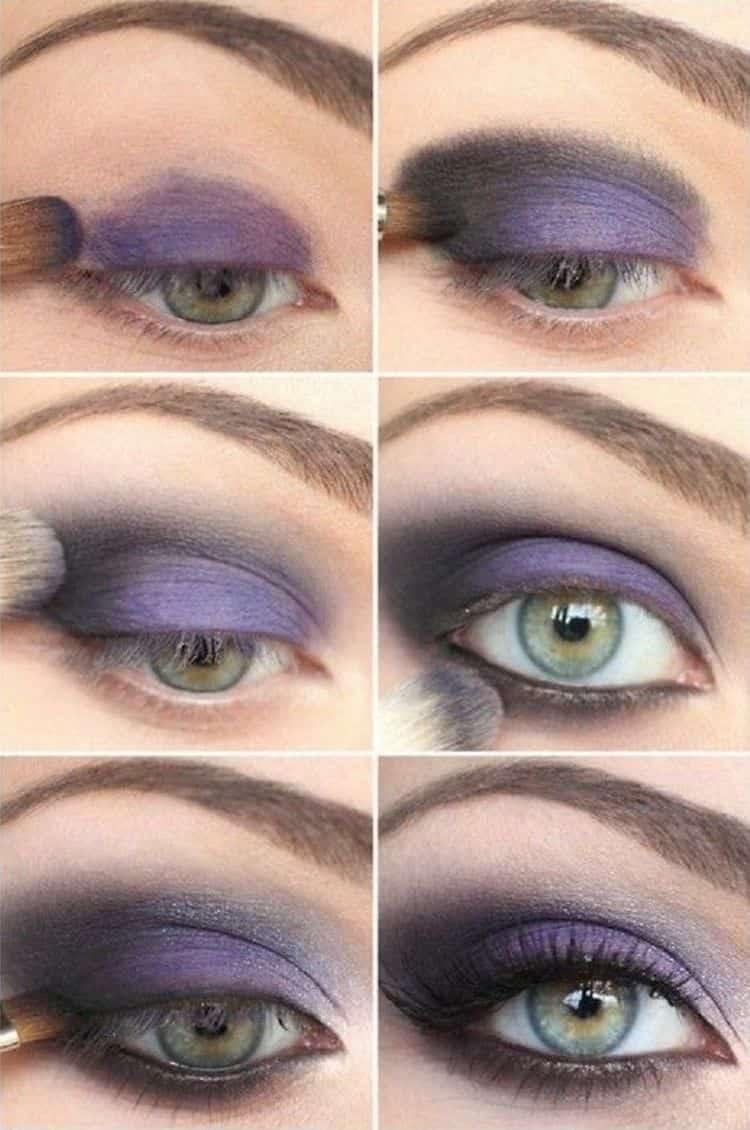 А вот еще пошаговое фото, как сделать макияж смоки айс.