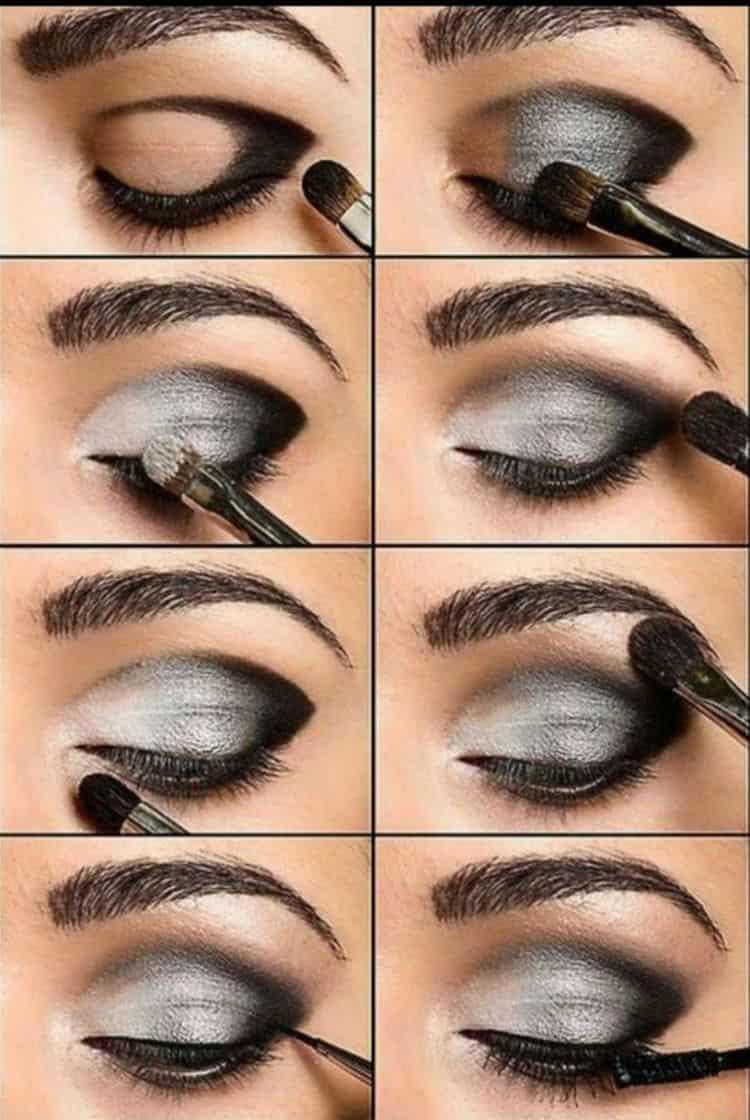 А вот макияж смоки айс для карих глаз.