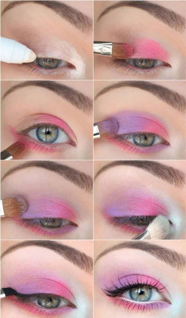 такой макияж можно сделать и цветными тенями.