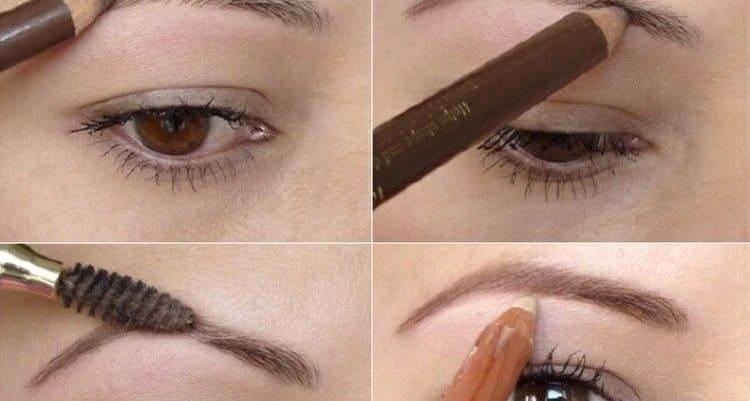 Важен не только макияж глаз в школу, но также и правильное оформление бровей.