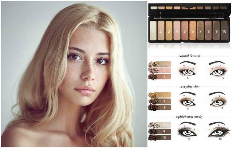 Нюдовый макияж глаз можно сделать только тенями.