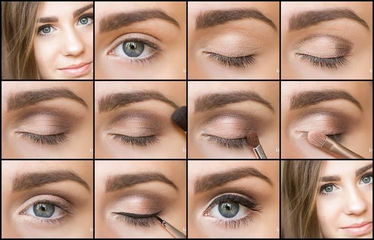 Красивый и легкий повседневный макияж глаз