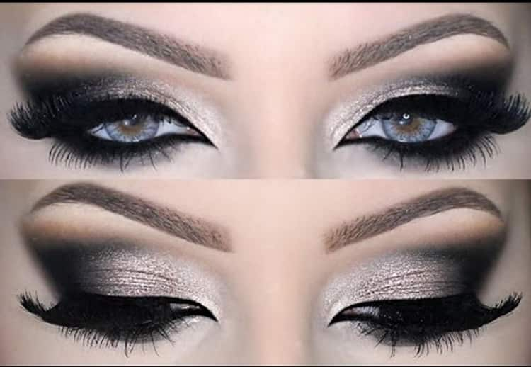 Как сделать вечерний макияж глаз