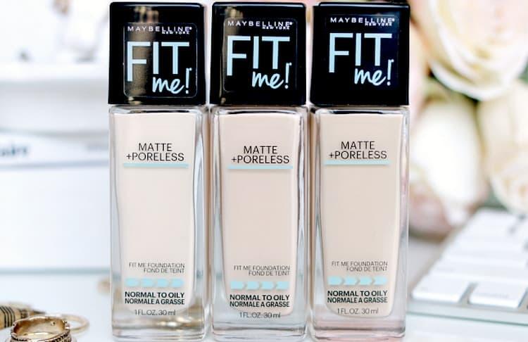 Есть много положительных отзывов о тональной основе Fit me от Maybelline.