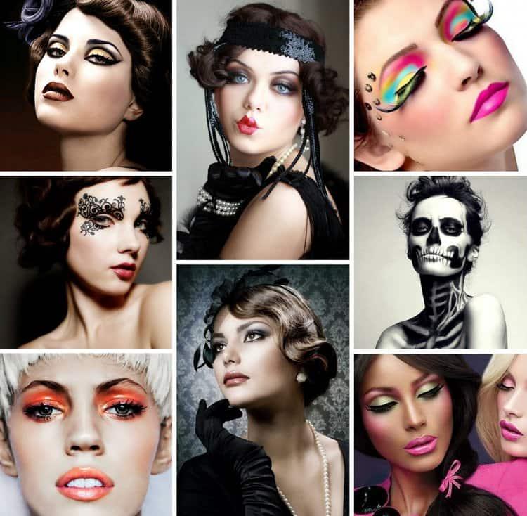 Сейчас популярен и тематический макияж.