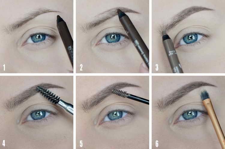 Коррекция макияжем бровей