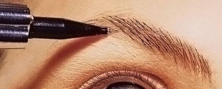 чем красят брови визажисты при макияже
