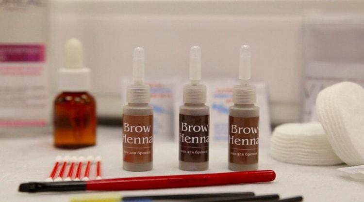 как правильно красить брови хной brow henna