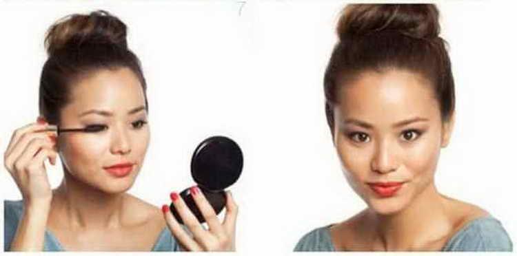 Как правильно сделать самой в домашних условиях макияж без макияжа