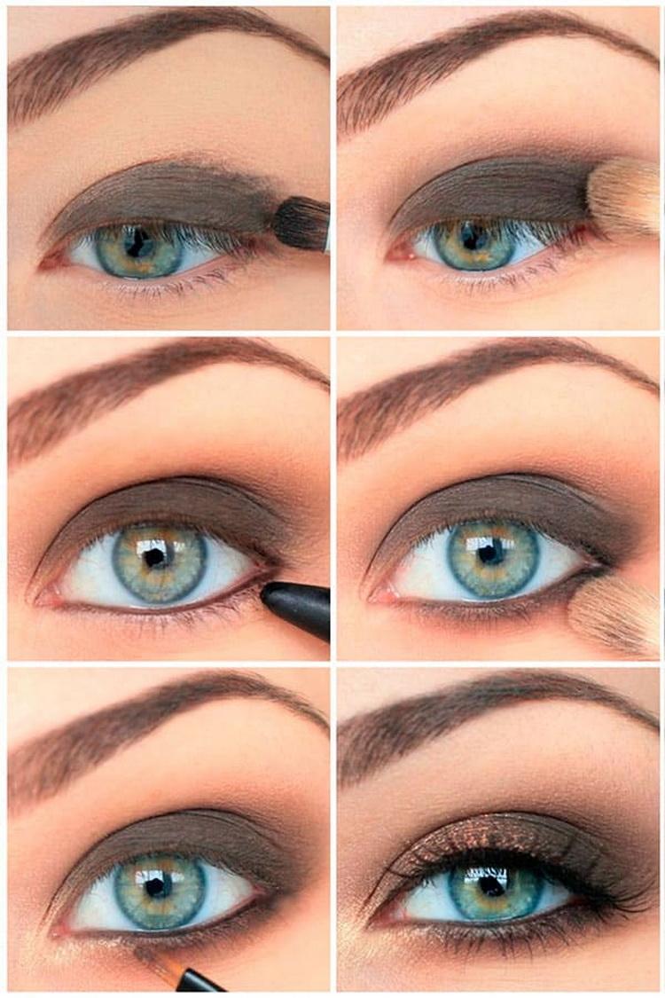 макияж глубоко посаженных глаз: пошагово