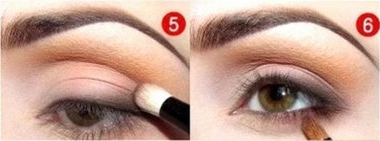 дневной макияж для карих глаз фото последние штрихи
