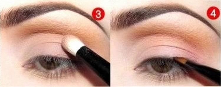 дневной макияж для карих глаз фото шаг 3 и 4