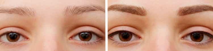 Перманентный макияж бровей с фото до и после и отзывами