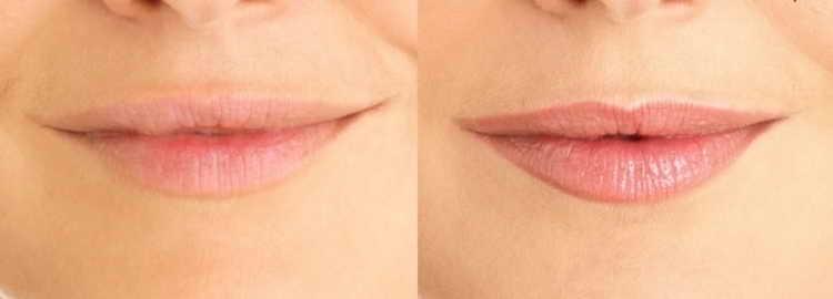 татуаж губ с растушевкой фото естественный цвет