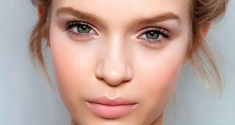 тени для естественного макияжа у блондинок