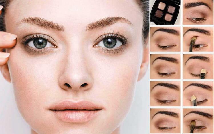 естественный макияж пошаговое фото