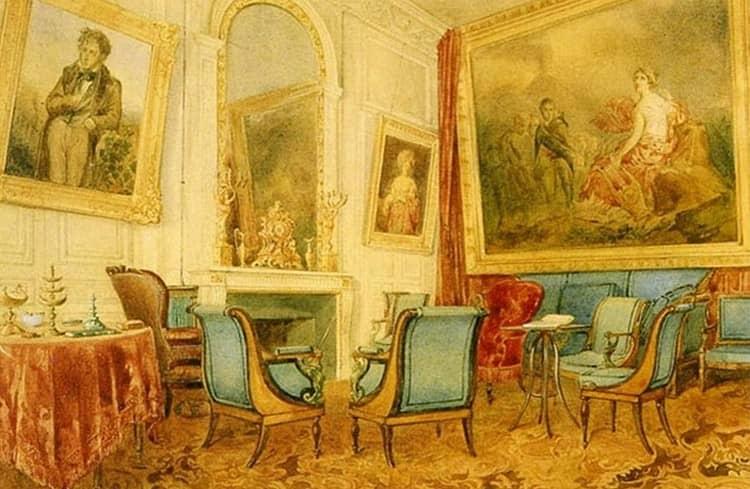 Гадание пасьянс мадам Рекамье был придуман ею в ее собственном особняке.