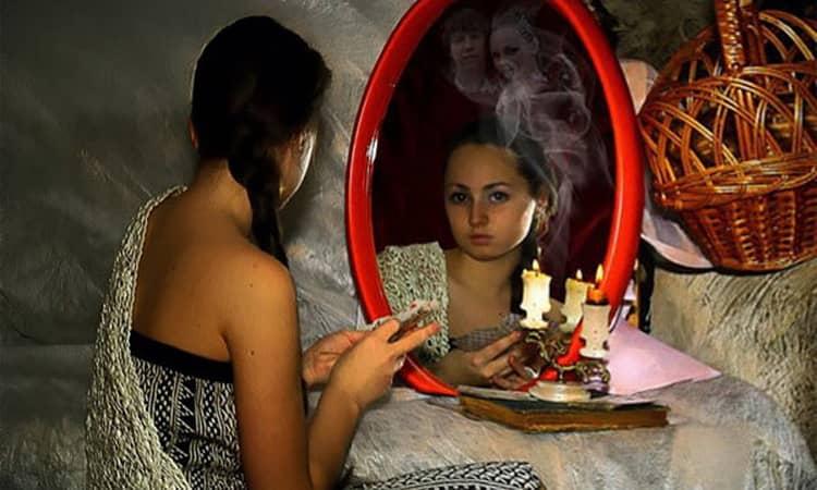гадание чертово зеркало