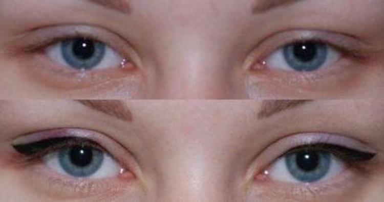 межресничный татуаж глаз фото до и после