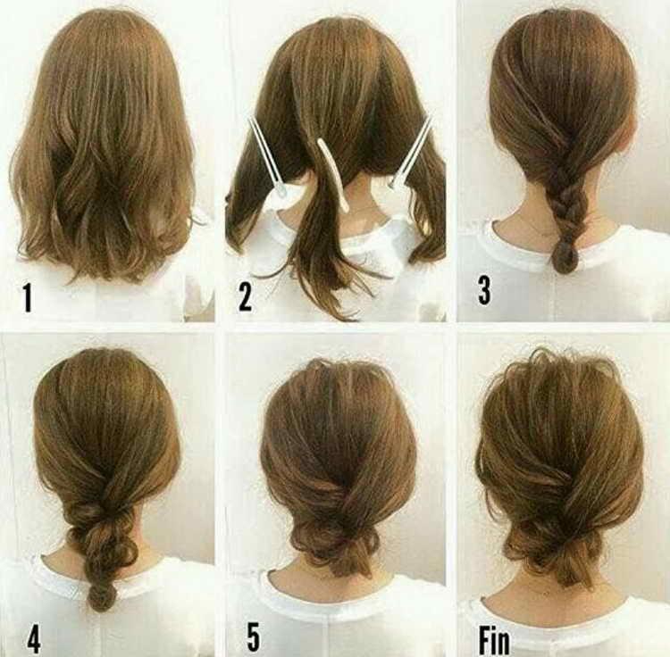 Обычная коса на короткую стрижку