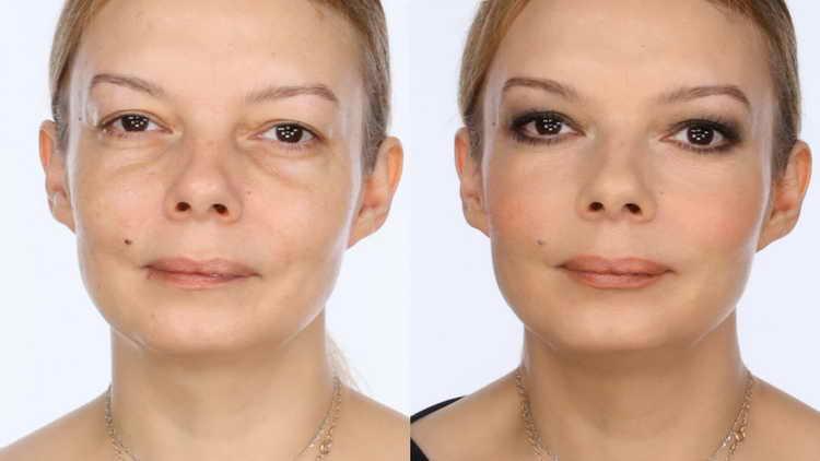 возрастной макияж 50