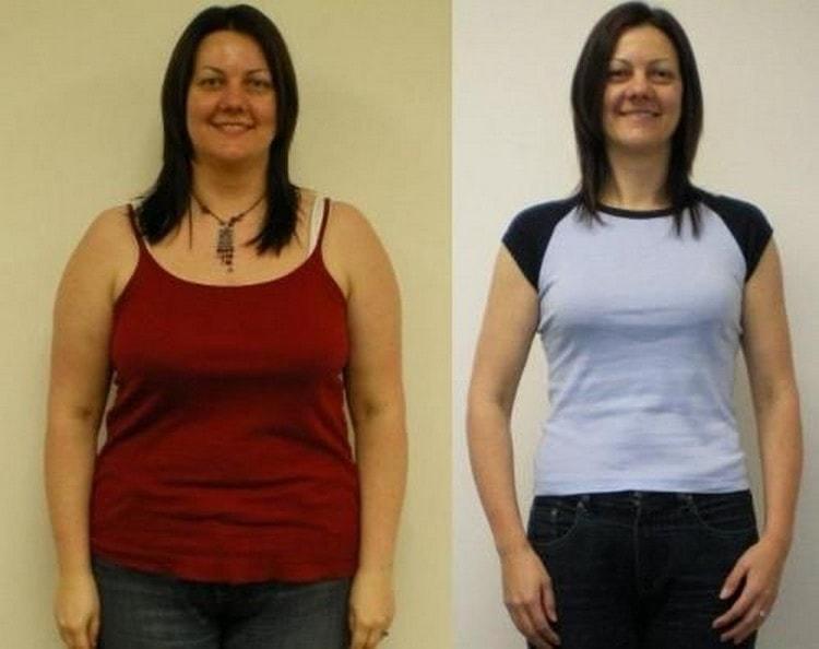 На фото показаны отзывы и результаты белковой диеты для похудения.