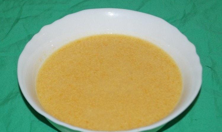 На второй день можно приготовить суп-пюре.