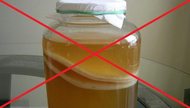 есть также некоторые противопоказания к употреблению настоя из чайного гриба.