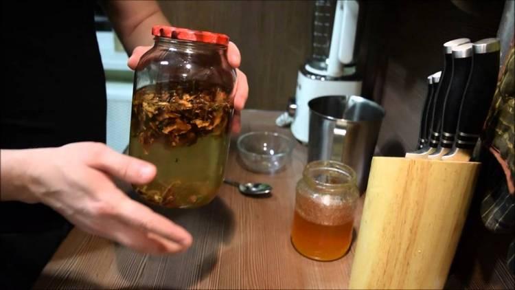 Из перегородок готовят специальный целебный отвар.
