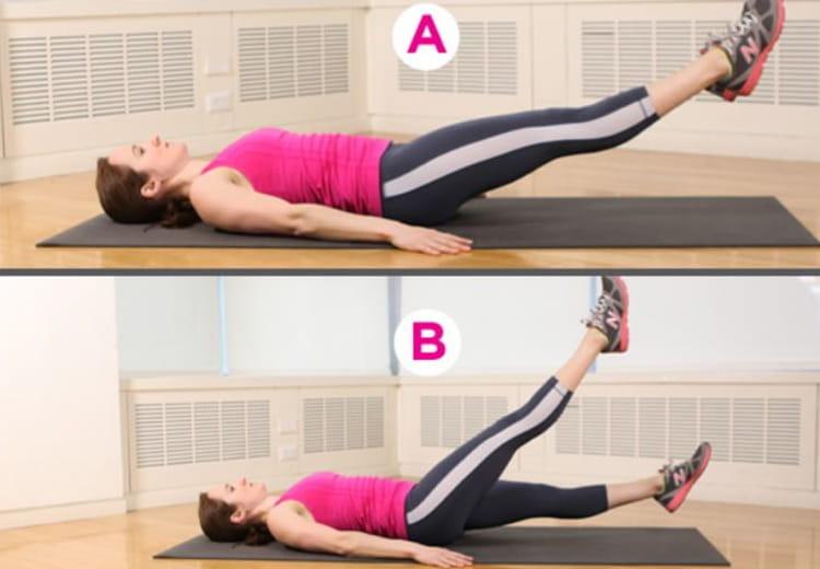 Ножницы упражнения для быстрого похудения ног