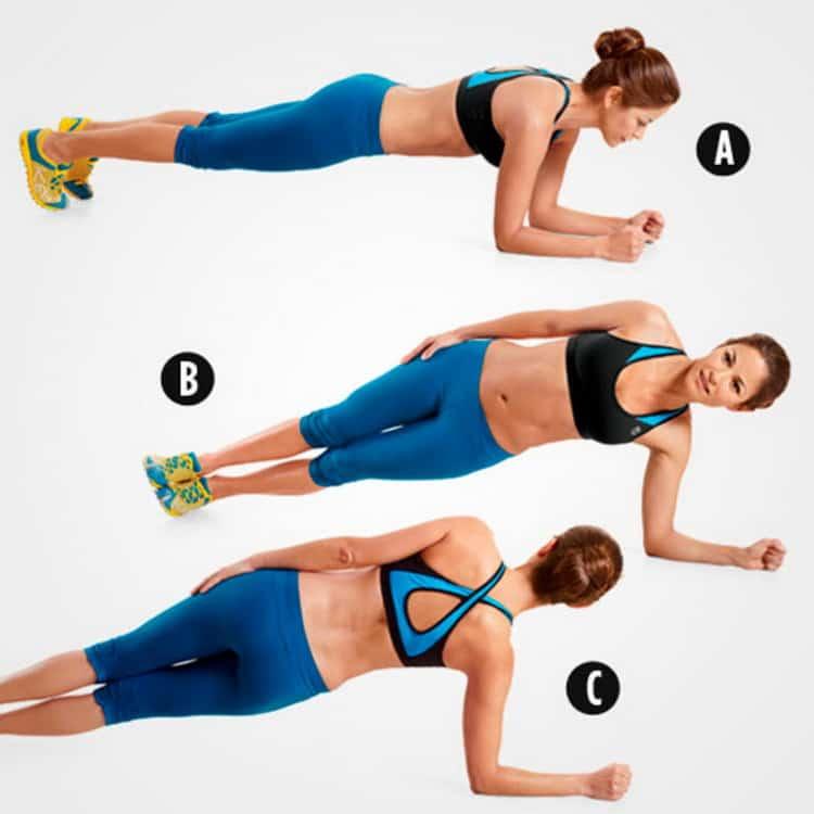 фитнес упражнения для похудения живота и боков
