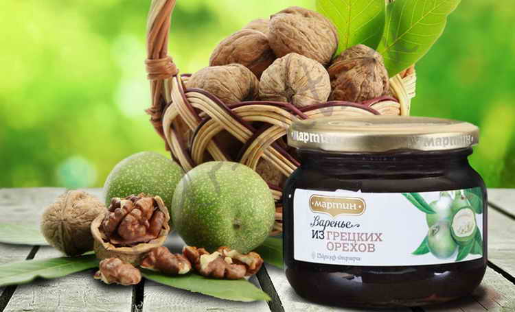 состав варенья из грецких орехов