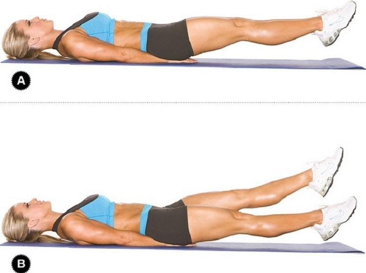 Упражнение даст возможность подтянуть живот и ягодицы.