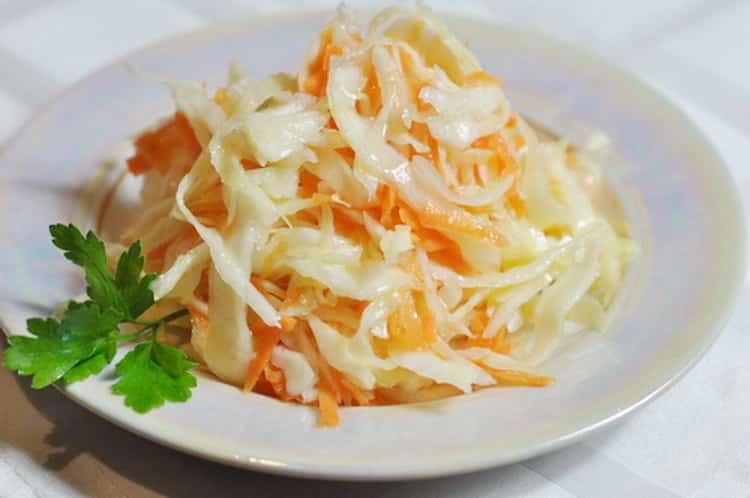капуста с морковью: калорийность