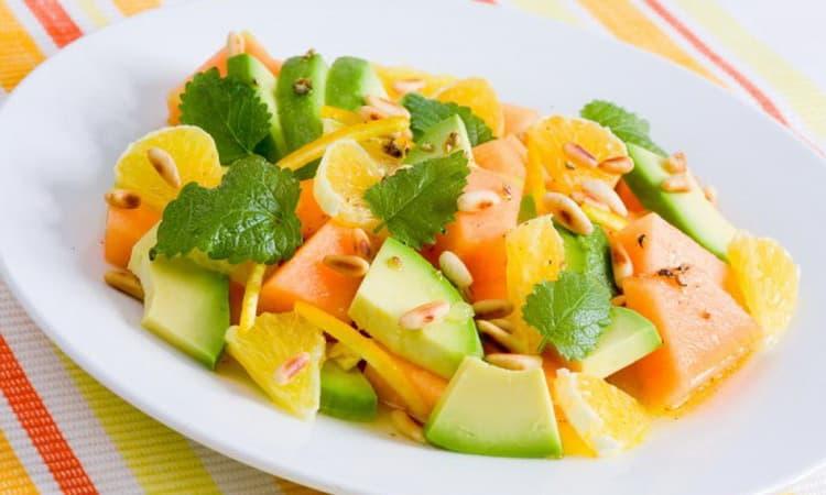 Калорийность салата из дыни и авокадо